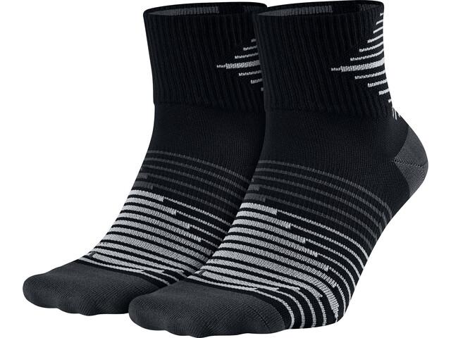 Nike Lightweight Quarter Socks 2 Pack Men, black/anthra